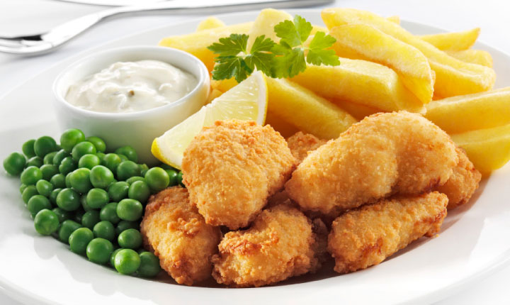 Scampi chips salad spennymoor pizza delivery take away for Classic kebab house fish chips aston